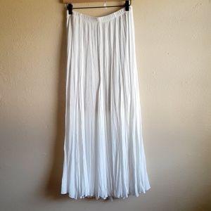 Karen Kane Flare Maxi Skirt Ivory Size Small